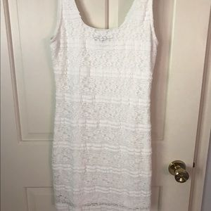Forever 21 , white lace dress, size M